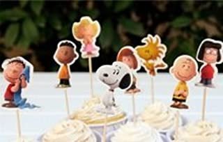 Snoopy Peanuts Cupcake Toppers Party Decoration