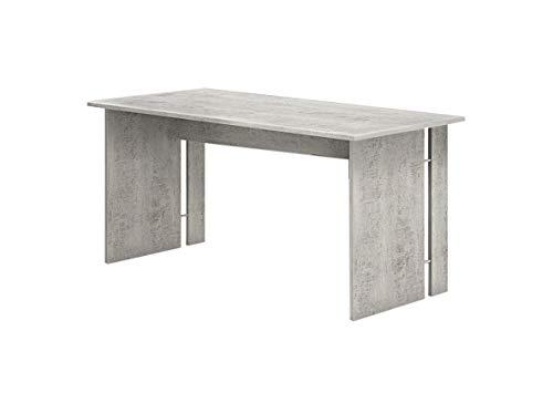 Scrivania per ufficio, computer 150x80x75 cm moderna, cemento, Made In Italy