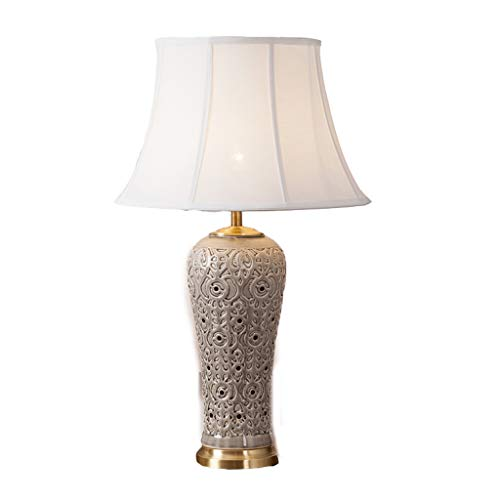 Lampe de table en céramique grise lampe de table de chevet salon chambre