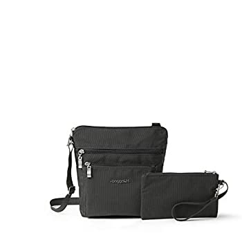 Baggallini Pocket Crossbody Bag With RFID-Protected Wristlet Charcoal