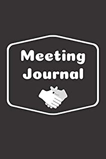 Meeting Journal: Meeting Notebook (100 Pages 6 x 9 )
