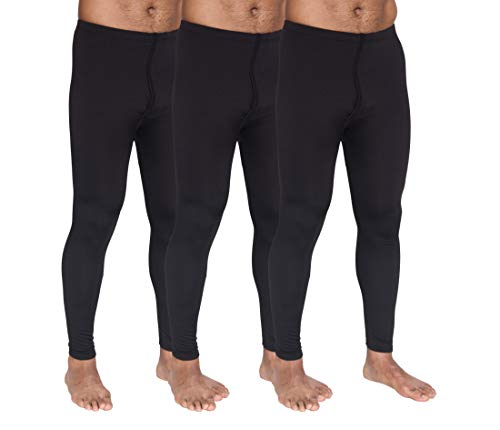 3-Pack: Men's Thermal Underwear Pants Set Warm Long Johns Compression Underpants Leggings Training Tights Active Clothing - Set 2, Large