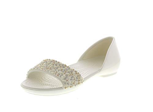 Crocs Damenschuhe - LINA Embellished Dorsay - Oyster, Größe:38/39 EU