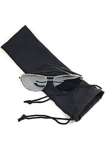 Ultra Soft Microfiber Drawstring Bag by Phi1.618,Black 4'X12' Sunglasses,Jewelry,Gift,Travel,Vibrator Bag