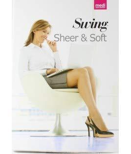 MEDIVEN – Medium Swing Sheer & Soft – elastische Strümpfe verhindern – 70 Zähne, 14 mm HG – I, Nerz, selbstständig