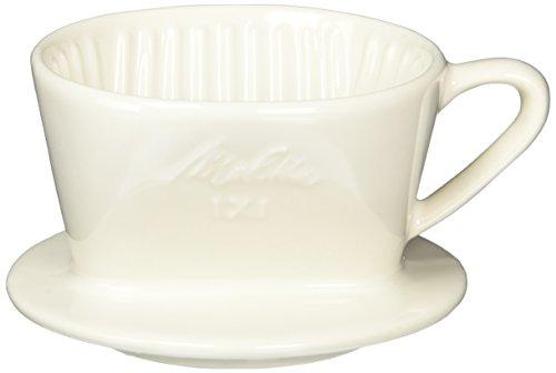 メリタ Melitta コーヒー ドリッパー 陶器製 日本製 計量スプーン付き 1~2杯用 ホワイト 陶器フィルターシリーズ SF-T1×1