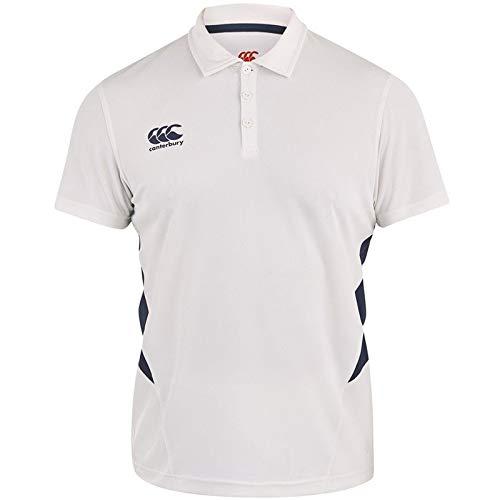 Canterbury Classic Cricket-Shirt, Senior, Herren, Cream,Navy, Small