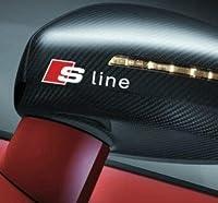バンパーガラスステッカー スポーツカーステッカー車のバックミラーステッカー2PCS (Color : White)