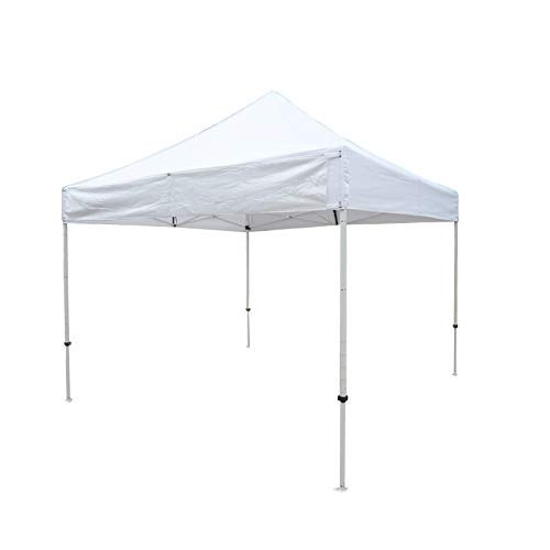 Formosa Covers 10ftx10ft Replacement Canopy with one Detachable Sign Display Panel in White (Top Only)
