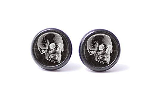 Pendientes de cráneo vintage con diseño de calavera y calavera