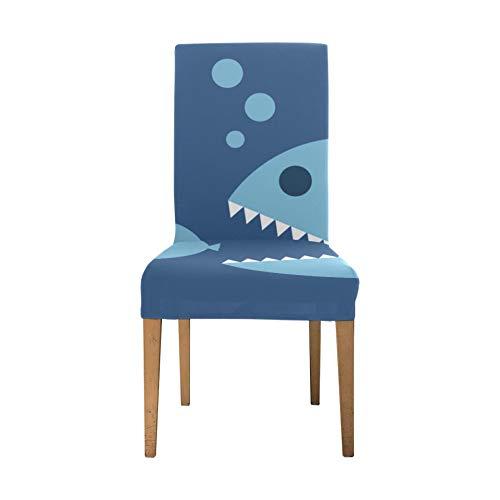 Fodera per sedia Big Fish Eat Small Fish Chair Fodere elasticizzate per sala da pranzo Fodera per sedia morbida elasticizzata per soggiorno Fodere per sedili rimovibili lavabili per la casa