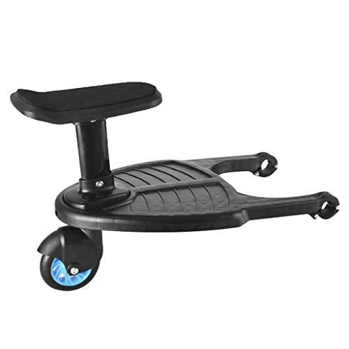Buggy Board Buggyboard mit Sitz,Kinderwagen Board,Sitz Abnehmbar und Zusammenbauen,Kinder Sicherheit Komfort Trittbrett bis zu 25 kg (Blue)