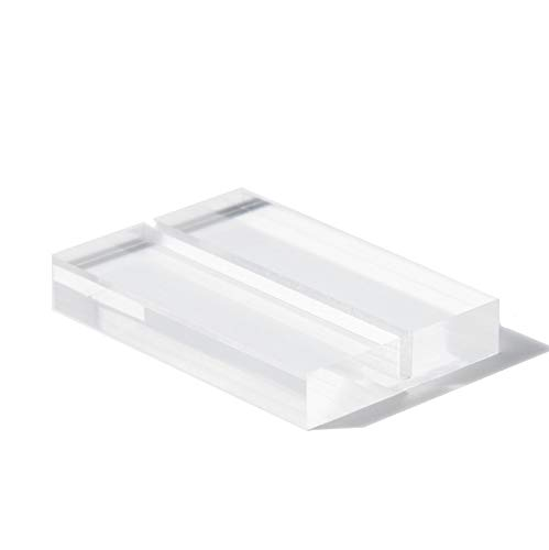 """UNIQOOO 20 Pack 3"""" Large Clear Acrylic Sign Holders 