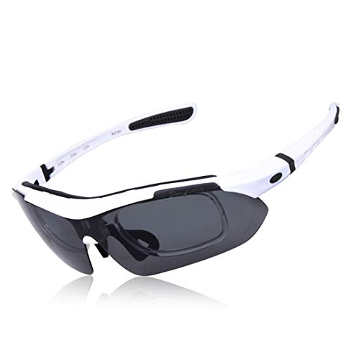 Minicocock Pesca Mujeres de los Hombres al Aire Libre de conducción Riding polarizadas Gafas de Sol Deportivas Lentes Intercambiables PC 5Pcs Antideslizante Durable (Color : A006)
