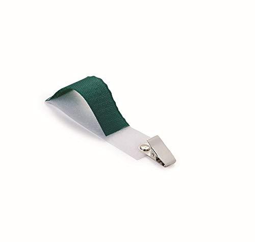 Universal Schlauchhalter, Kanülenhalter, Klingelschnurhalter, OP-FIX mit CLIP rostfrei, grün/weiß, Pack á 25 Stück