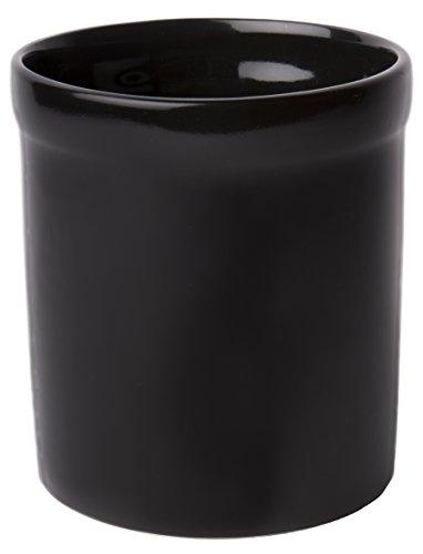 American Mug Pottery Ceramic Utensil Crock Utensil Holder Made in USA Black