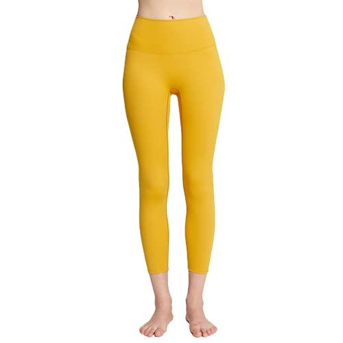 Pantalones de Yoga para Mujer elásticos de Secado rápido de Cintura Alta Push-ups Anti-Sentadillas Gimnasio Mallas para Correr GS