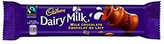 Lot of 10 Cadbury Dairy Milk Chocolate Candy 42 Grams Each From Canada by Cadbury