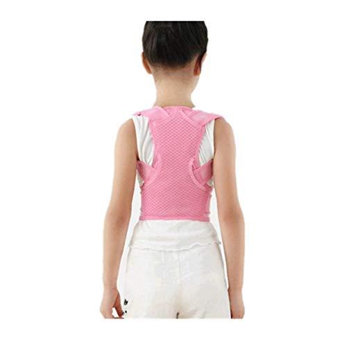 Órtesis de espalda Los niños ajustable Corrector de Postura espalda correa de soporte ortopédico niños corsé for Niños espina dorsal lumbar del hombro Los apoyos de la Salud 10.10 (Color: azul