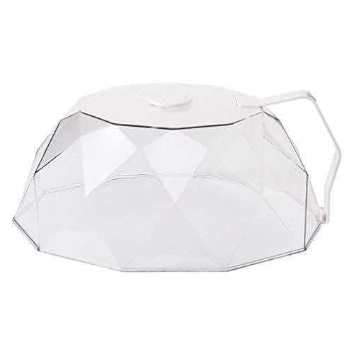 Yardwe Cubierta de salpicadura de microondas para microondas, tapa magnética antisalpicaduras, con rejillas de ventilación, mantiene el horno de microondas limpio y blanco
