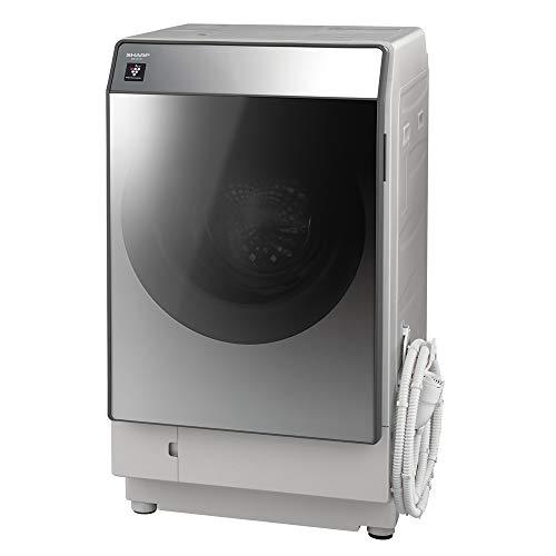 シャープ  SHARP  ドラム式洗濯乾燥機(ハイブリッド乾燥) 左開き(ヒンジ左) 洗濯11kg/乾燥6kg シルバー系 ...
