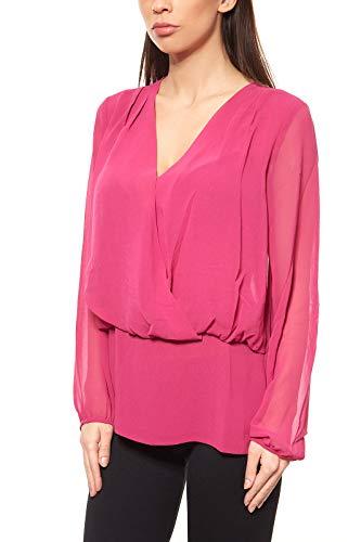 Ashley Brooke Chiffonbluse Bluse Damen Regular Fit Pink by Heine, Größenauswahl:38