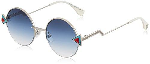 Fendi FF0243S-SCBNE-51 FENDI Sonnenbrille FF0243S-SCBNE-51 Rund Sonnenbrille 55, Silber