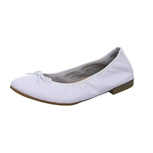 Tamaris Womens 1-1-22116-24 925 Ballerinas, White, 38 EU