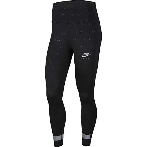 Nike Air Women's 7/8 Running Tights CU3351-010 Black/Reflex Silver Black/Reflective Silv S