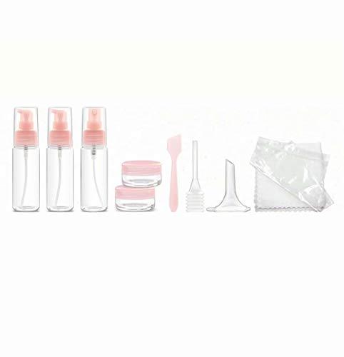 Waymeduo 10 pièces Articles de Toilette contenants de Liquide pour shampooing Lotion conditionneur ShowerGel Cream avec Sac de Rangement et étiquettes Bouteilles de Voyage contenants cosmétiques