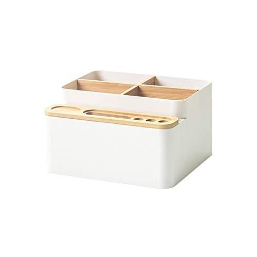 HJCE Plastic Makeup Organizer Bamboo Storage Box,Cosmetics Skin Care Desk Containers Jewelry Trinket Boxs,Sundries Storage Drawer