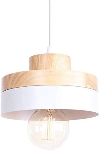 FACAIA Araña de Luces LED Moderna, Hermosa en Madera y Metal, Adecuada para Comedor, Dormitorio, lámpara de decoración de Sala de Estar,