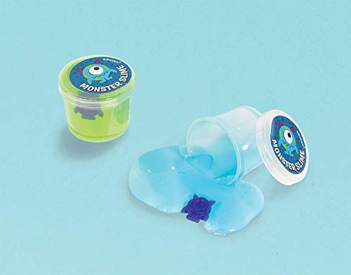 amscan Assorted Color Slime with Small Monster Toy Surprise - 12 pcs.