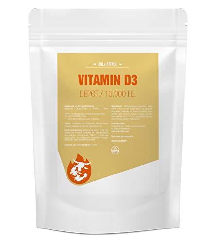 VITAMIN D3 DEPOT | 10000 | Hochdosiert & Super Stark | 250 vegane Tabletten | Vegan | Vorratspackung | Vitamin D-3 für Immunsystem & Knochen | Beste Qualität - Made in Germany (250 Tabletten)