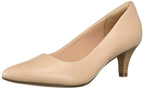 Clarks womens Linvale Jerica Pump, Blush Leather, 8.5 Wide US