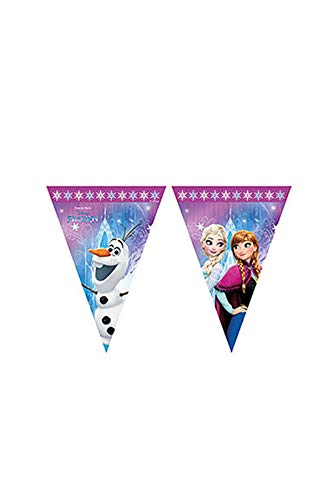 Procos 86921 Guirlande à fanions Disney Frozen Northern Lights, Multicolore