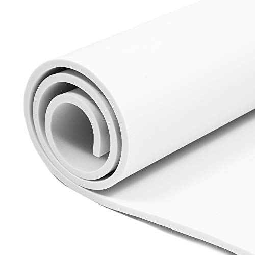 White EVA Foam Sheets Roll, for Cosplay, Costumes, Crafts, DIY Projects (6mm, 39.5 x 13.8 in)