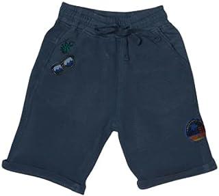 Little Kangaroos Boys Knitted Bermuda, Ash Blue - ROGS2019171E