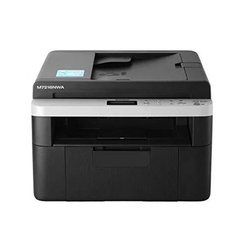 Kantoorprinter, Zwart-wit drie-in-één printer, Kopieer/scan/Print/Wifi alles-in-één machine, Office School Home multifunctionele printer,Black
