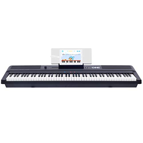 of cheap piano keyboards dec 2021 theres one clear winner The ONE Music Group Smart Stage Keyboard, Portable Digital Piano with Weighted Hammer Action Keys, 88 (TON1B)