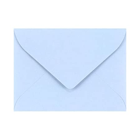 Luxury Metallic Paper Envelopes-Baby Shower Note Cards Thank You Notes 50  Mini Baby Blue Envelopes with note cards