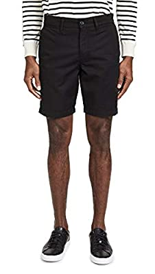 7 For All Mankind Men's Go-to Chino Shorts, Black, 36 by 7 For All Mankind-Men's
