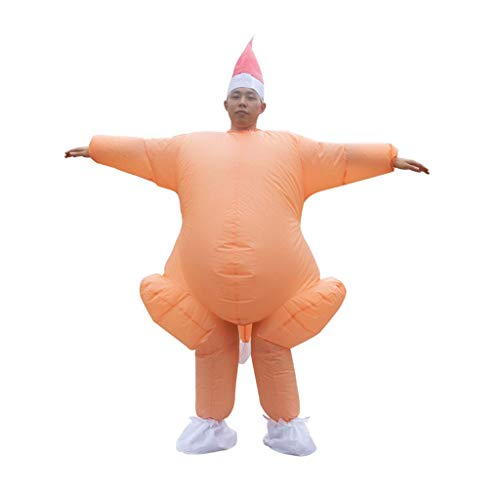 XXLYY Thanksgiving Türkei Aufblasbare Kostüm Kostüm Lustige Blow Up Jumpsuit Halloween