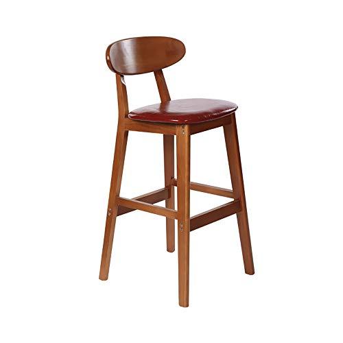 Massief hout, eenvoudig thuis, barkruk, massieve houtstructuur, lederen kussens, gebruikt voor restaurants, bars, cafés.