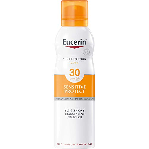 Eucerin Sensitive Protect Sun Spray Transparent Dry Touch LSF 30, 200 ml Lösung