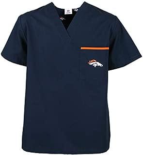 Denver Broncos Scrub Tops-Denver Broncos Scrub Pants-Officially Licensed NFL Scrubs-Men's & Women's Styles