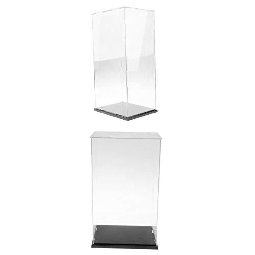 Injoyo 2 vitrinas grandes de acrílico transparente.