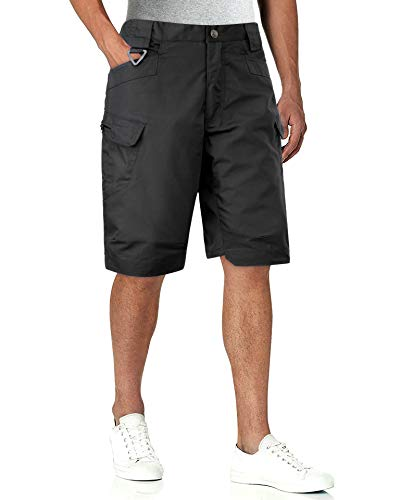 Alimens & Gentle Men's Casual Outdoor Lightweight Cargo Shorts Tactical Work Military Shorts Black