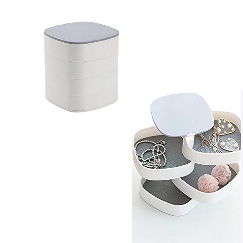 Wyongtao Vaciabolsillos de diseño, expositor para anillos, joyas, cajón, pendientes, ideal para la casa, color blanco