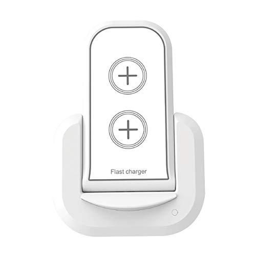 Muvit MUWIR0011 - Cargador con Soporte sobremesa inalámbrico (Qi 5W/7.5W/10W, 2A) Color Blanco